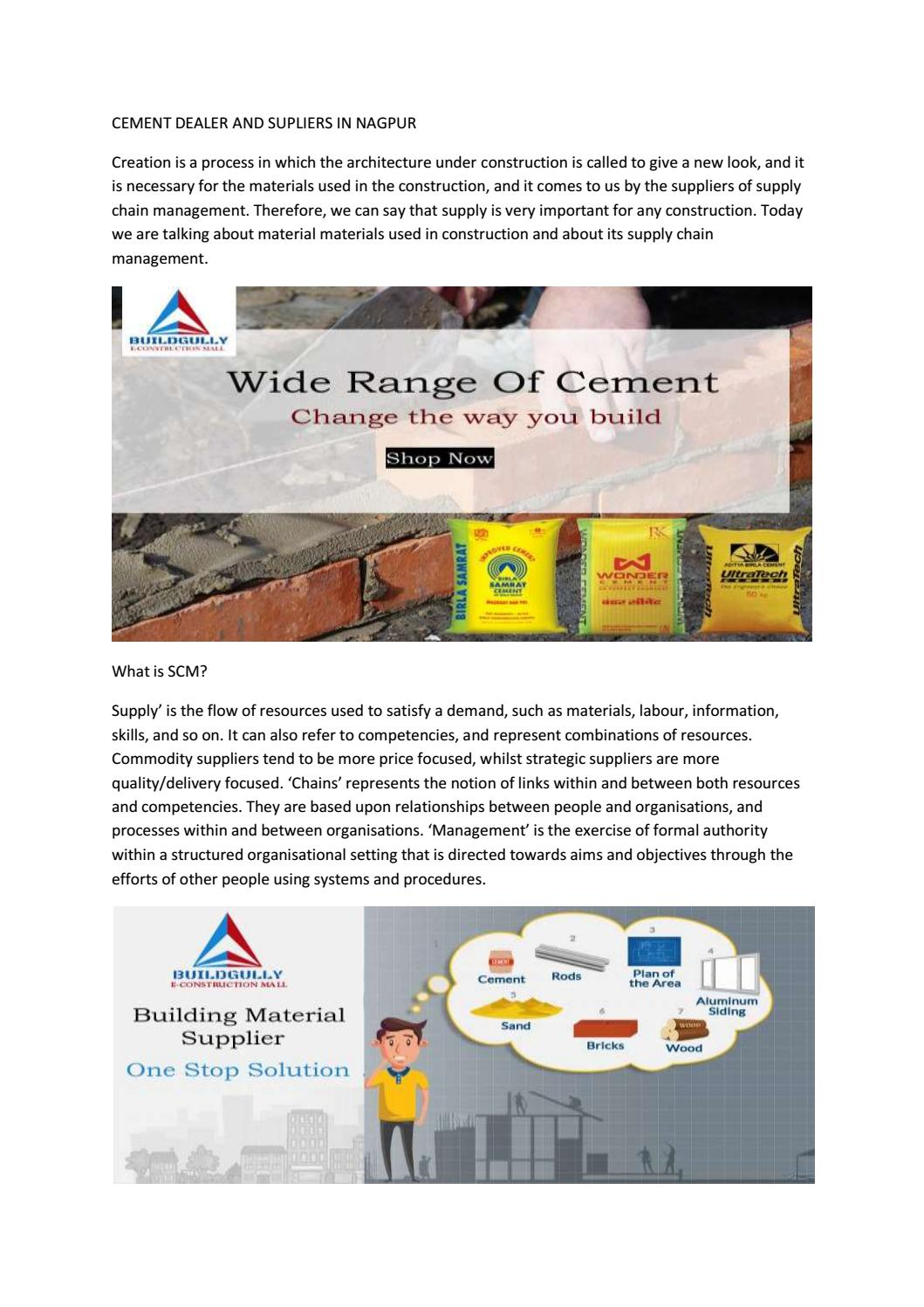 Buy Cement Online | Cement Dealer in Nagpur  by Buildgully - issuu