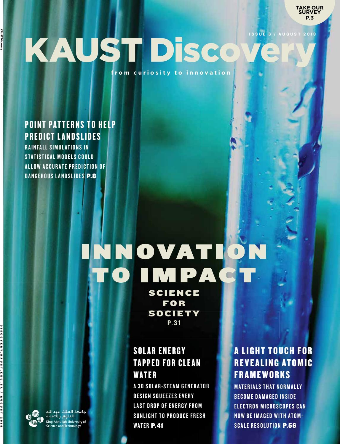 KAUST Discovery - Issue 6 by KAUST - issuu