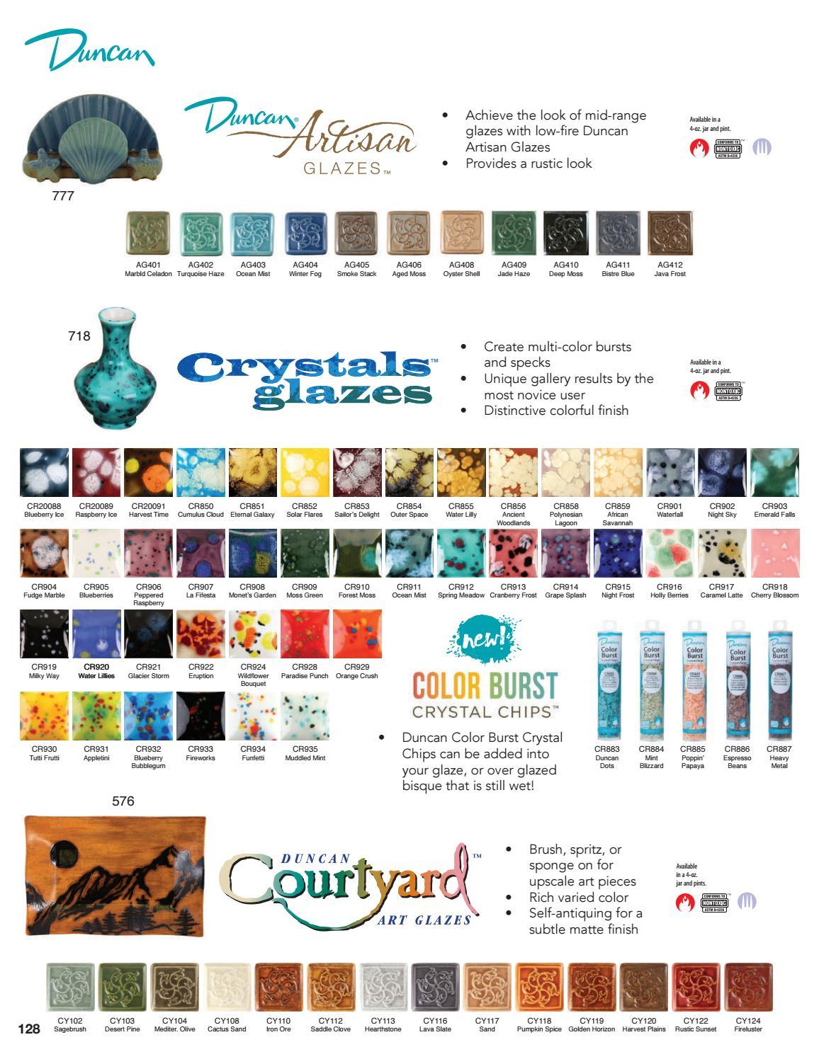 Cranberry Frost 4 Ounce Bottle CR 913 Duncan Crystals Glaze
