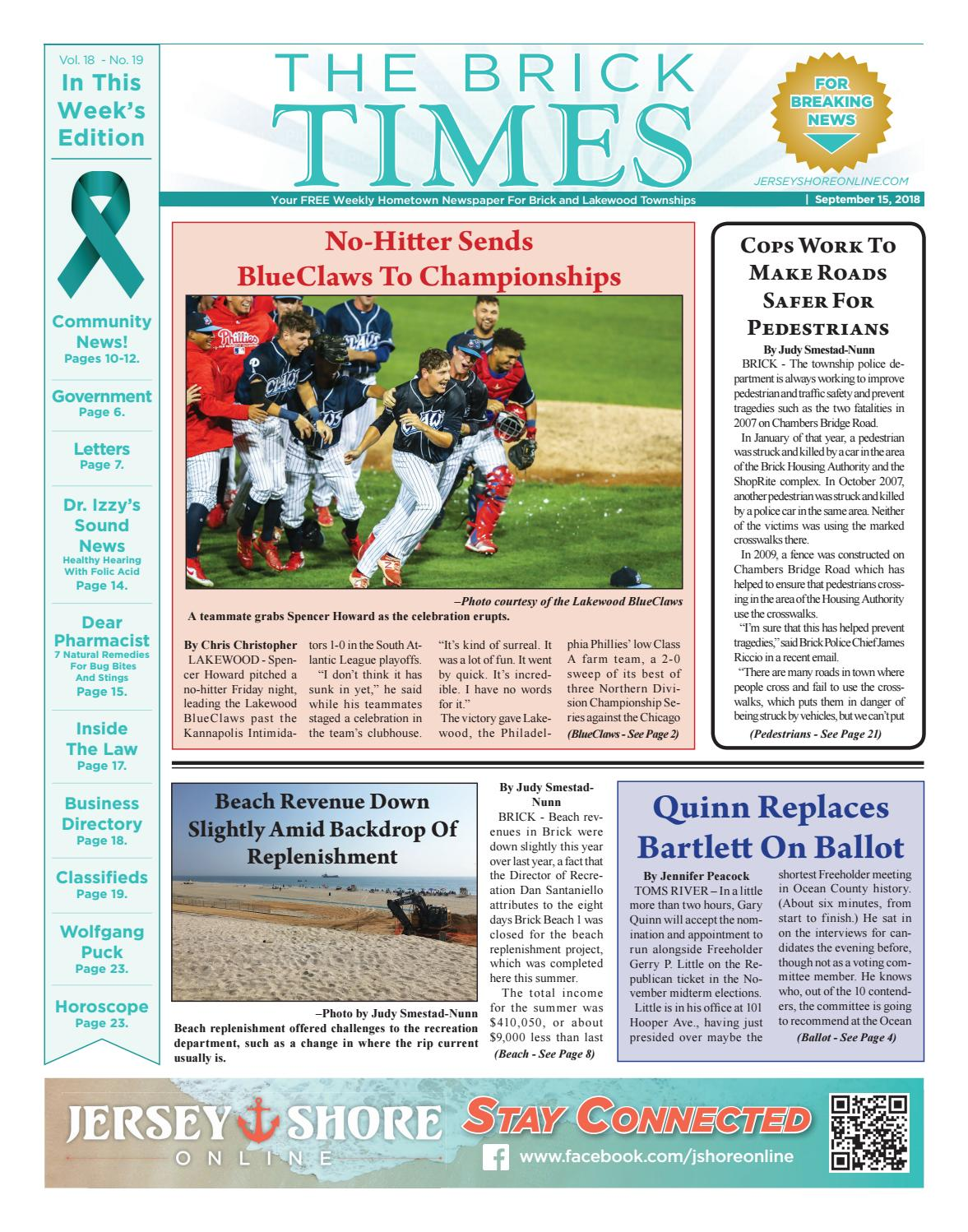 1d29f41c492 2018-09-15 - The Brick Times by Micromedia Publications Jersey Shore Online  - issuu