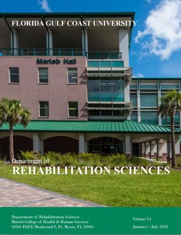 Department of Rehabilitation Sciences Newsletter, Summer '18