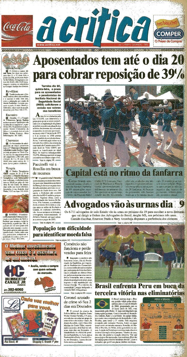 a282088851 Jornal A Critica - Edição 1155- 16 11 2003 by JORNAL A CRITICA - issuu