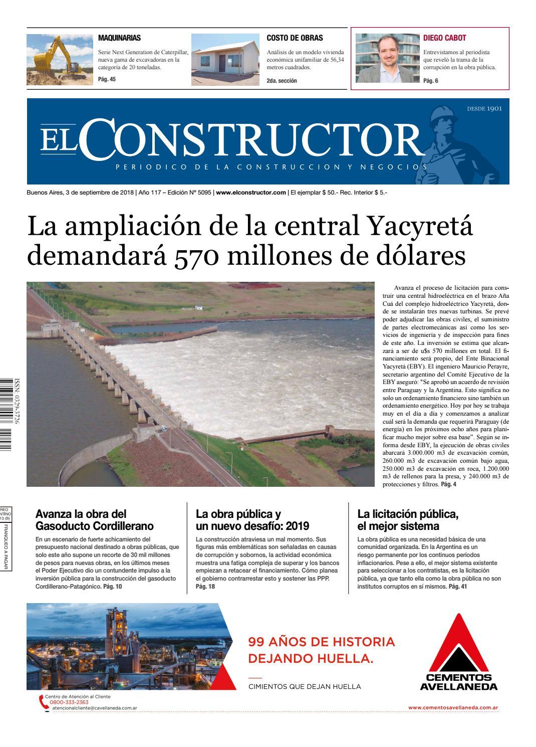 85e4126ea El Constructor 3 9 2018 - N° 5095 Año 117 by ELCO Editores - issuu
