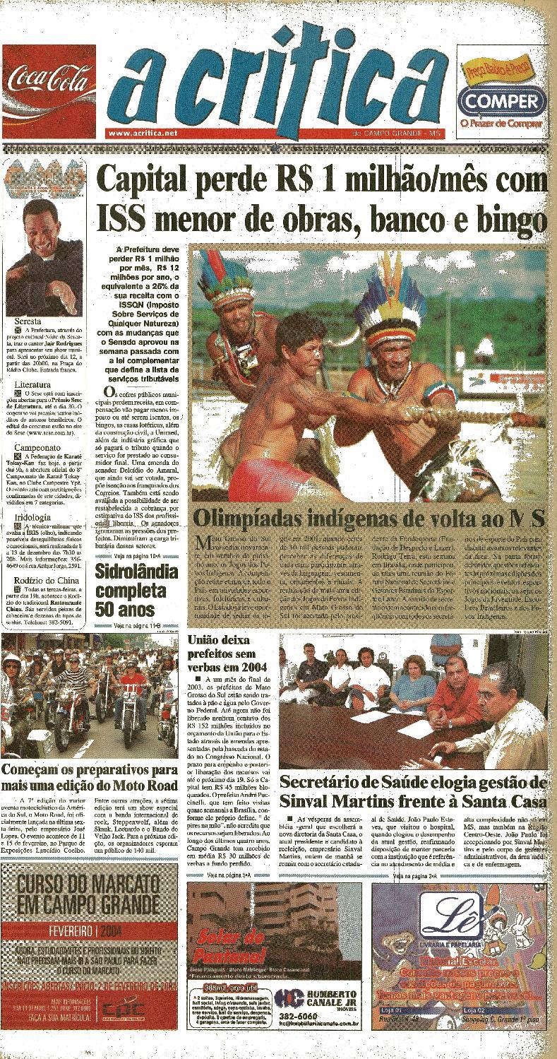 Jornal A Critica - Edição 1158- 07 12 2003 by JORNAL A CRITICA - issuu 3875066f07
