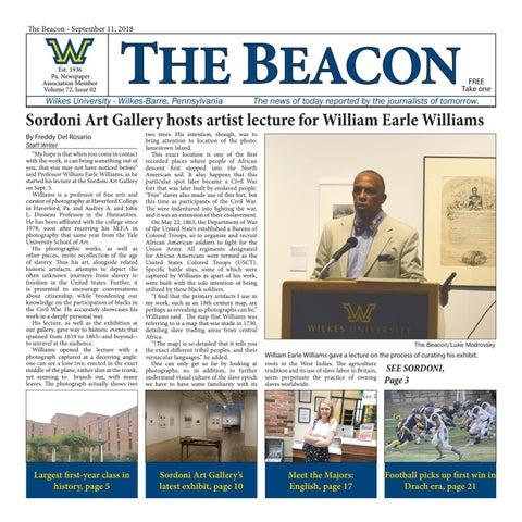 f71034a511 The Beacon - Sept. 11, 2018 (Vol. 72, Issue 2) by Wilkes Beacon - issuu