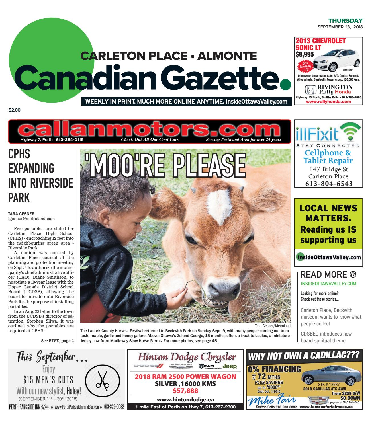 Otv C A 20180913 By Metroland East Almonte Carleton Place Canadian Diagram Besides Rear Main Seal Leak Furthermore 1995 Nissan Pick Up Gazette Issuu