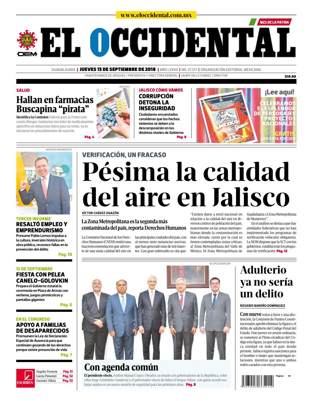 Edición digital 13 de septiembre de 2018 by EL OCCIDENTAL - issuu 4d27c897368