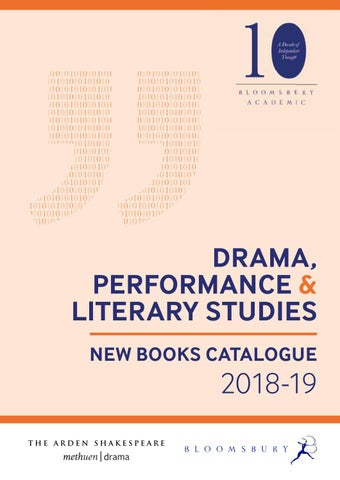 reputable site cfe07 a34e5 Drama, Performance   Literary Studies Catalogue 2018-19 by ...