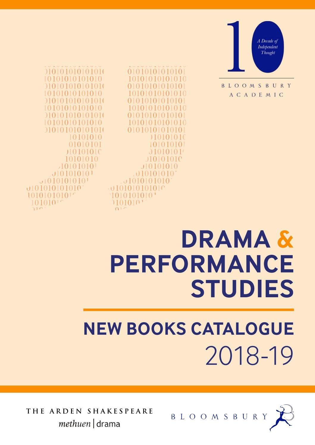 Drama & Performance Studies Catalogue 2018/19 by Bloomsbury Publishing -  issuu