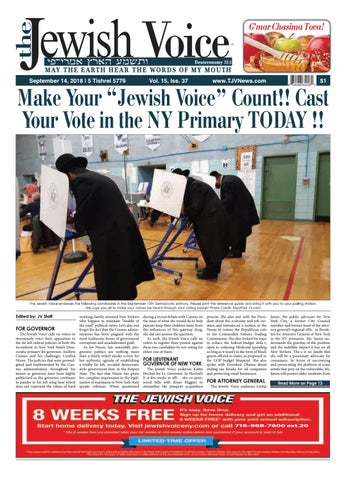 The Jewish Voice   SEPTEMBER 14, 2018 by Mike Kurov - issuu ee7fa2d0ca