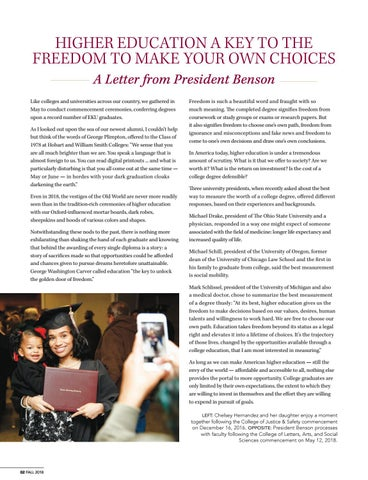 Page 4 of Higher Education a Key to the Freedom to Make Your Own Choices