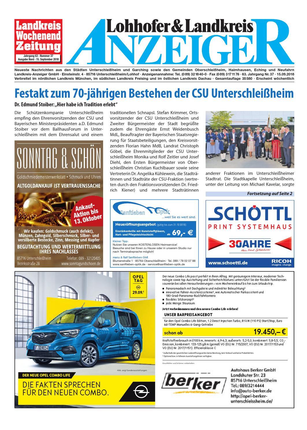 Lohhofer & Landkreis Anzeiger 3718 by Zimmermann GmbH Druck & Verlag - issuu