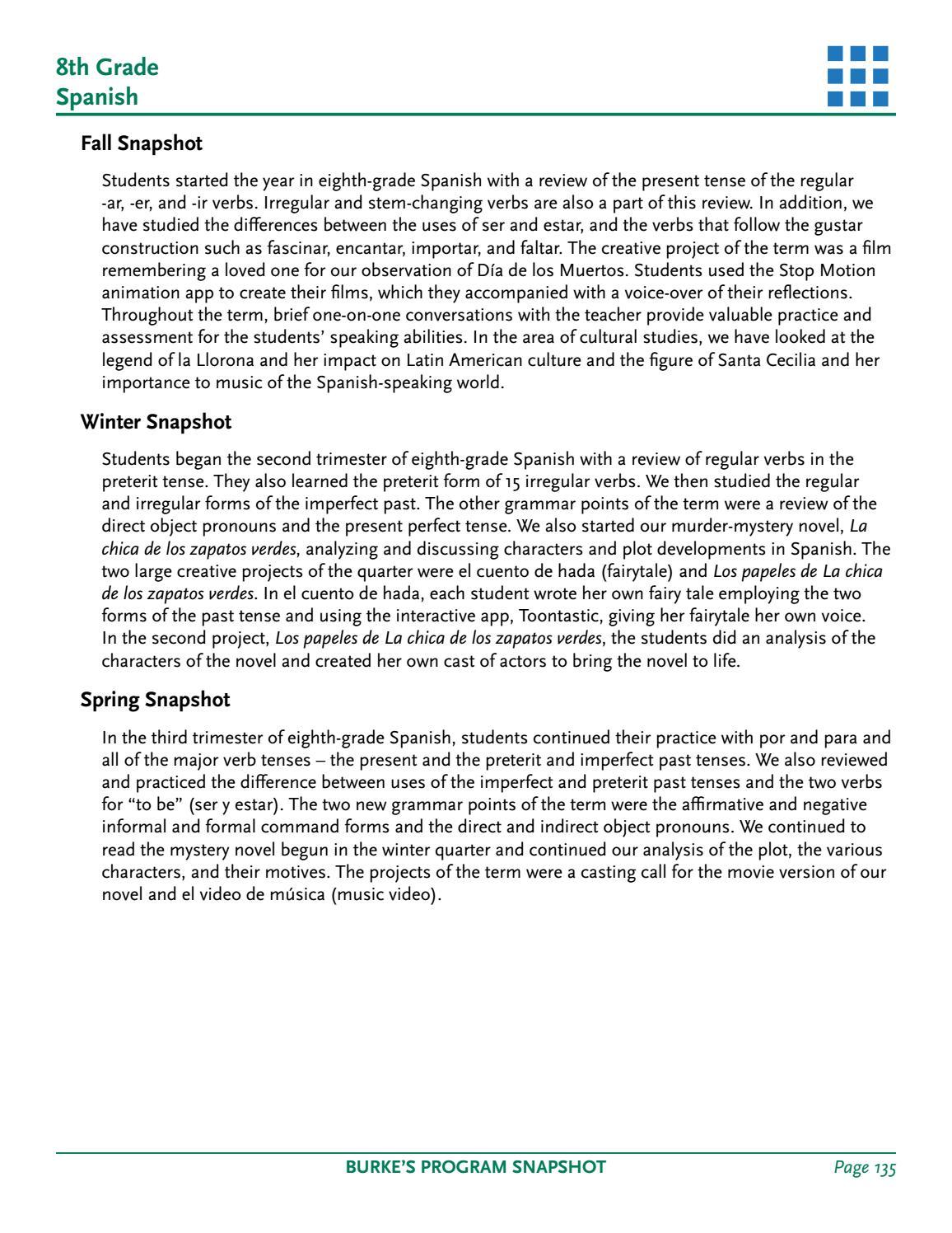 Burke's Program Snapshots 2016-2017 by Burke's School - issuu