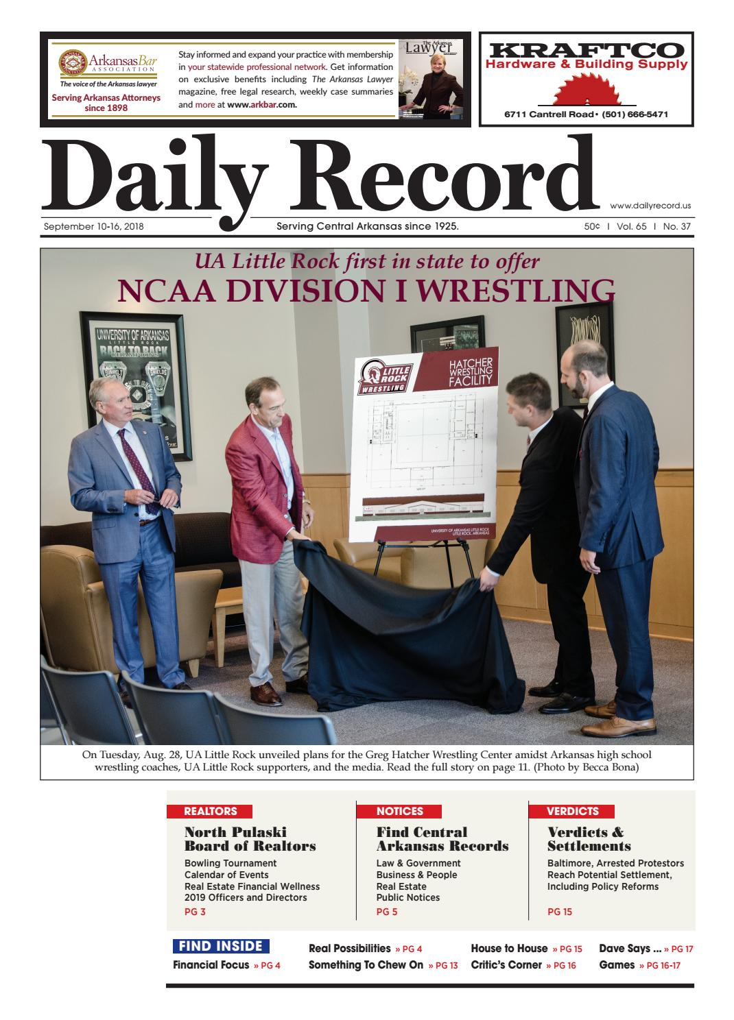 53617125896ad UA Little Rock first in state to offer NCAA Division I Wrestling by Daily  Record - issuu