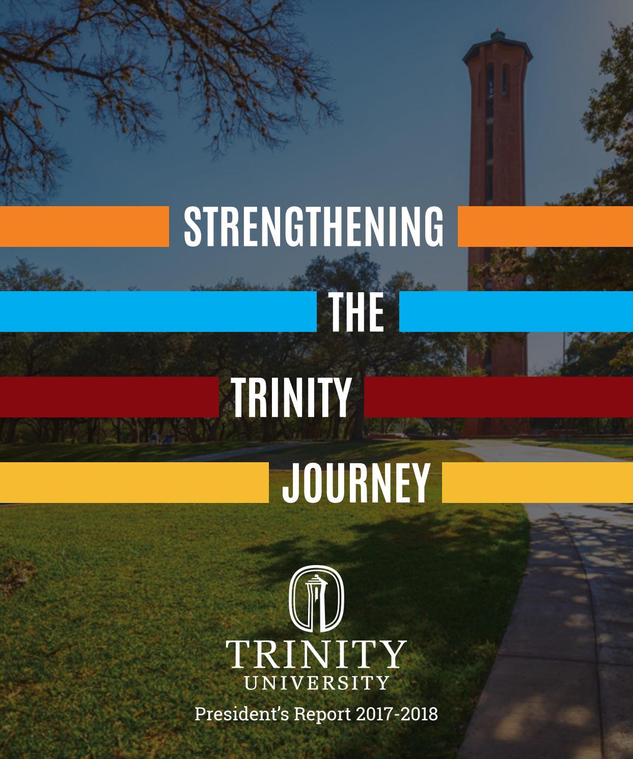 Trinity University President's Report, 2017-2018 by Trinity