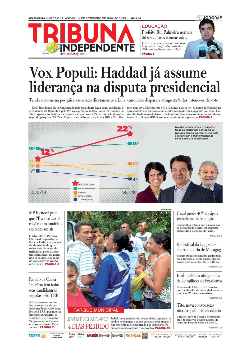 91c81b2db1 Edição número 3228 - 14 de setembro de 2018 by Tribuna Hoje - issuu
