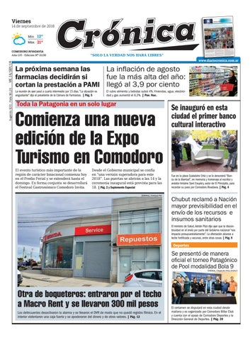 b78bf6055eb9 Diario cronica 14 09 2018 by Diario Crónica - issuu