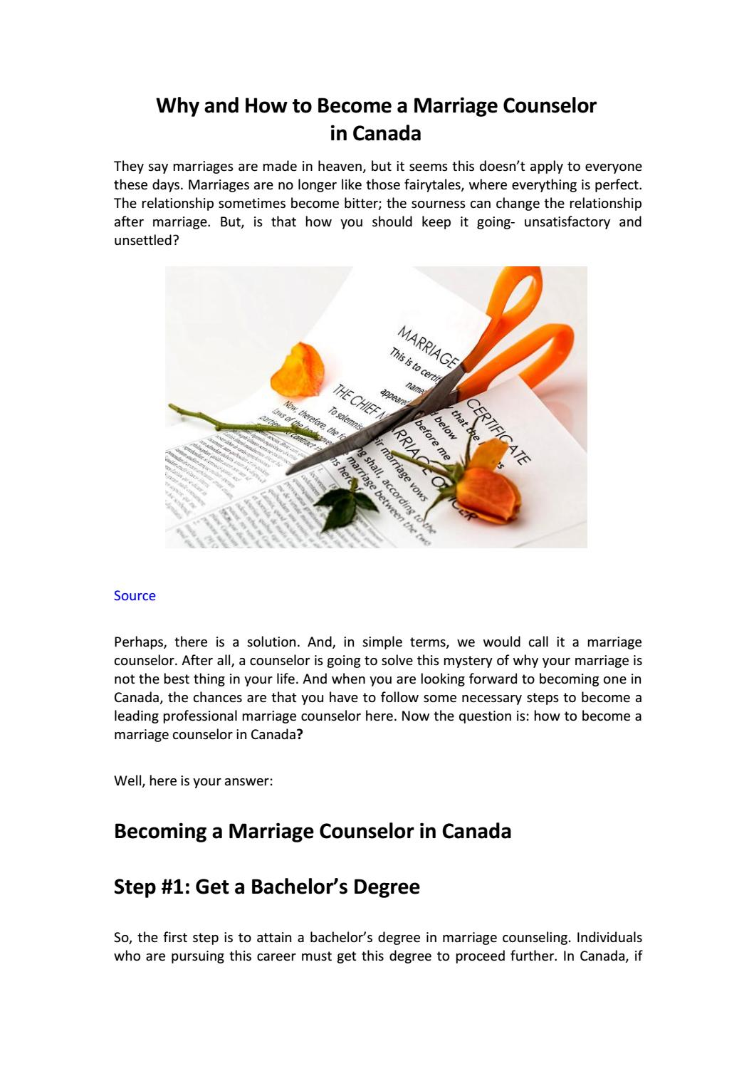 Why And How To Become A Marriage Counselor In Canada By The Ottawa