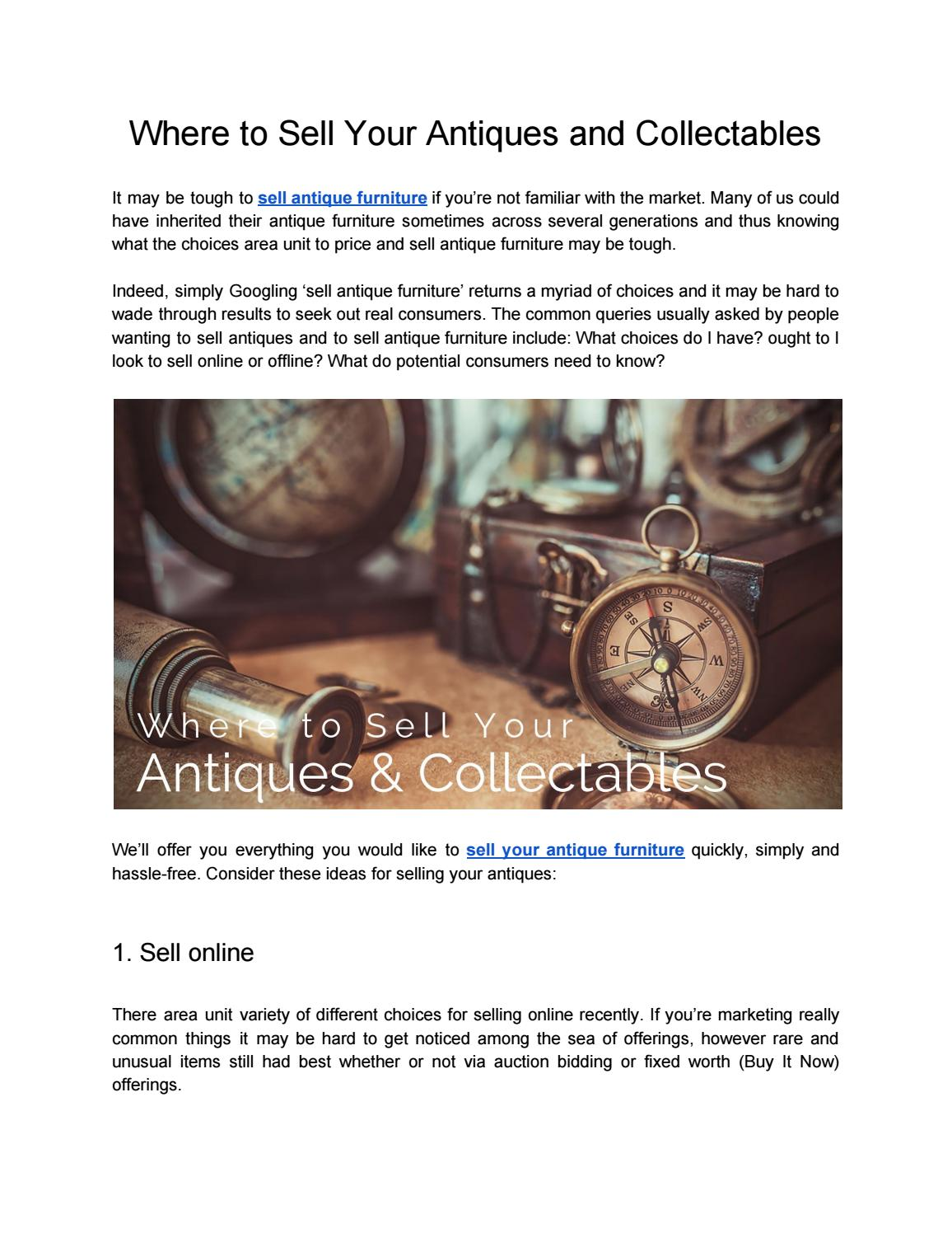 - Where To Sell Your Antiques And Collectables By Jason Xor - Issuu