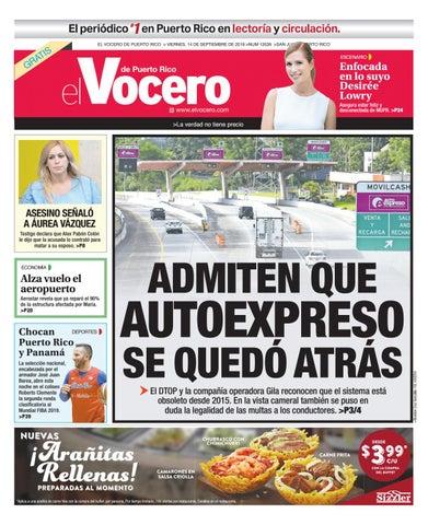 e48f162ac2 Edición del 14 de septiembre de 2018 by El Vocero de Puerto Rico - issuu