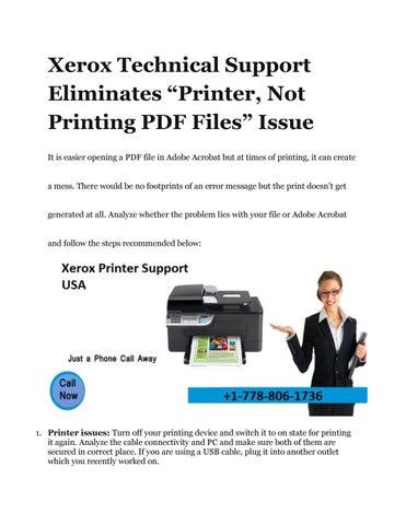 adobe pdf printer in error state