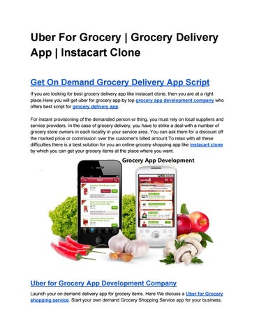Uber For Grocery | Grocery Delivery App | Instacart Clone by Alice