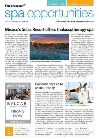 Spa Opportunities: Digital Edition