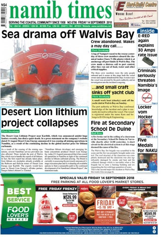 14 Sept Namib Times E Edition By Namib Times Virtual   Issuu