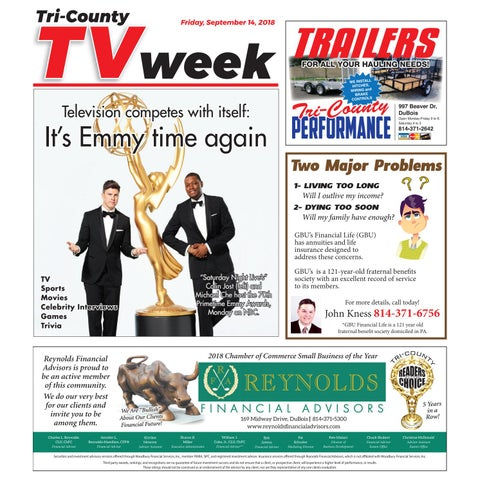 tv week friday, september 14, 2018 by tri county tv week issuu
