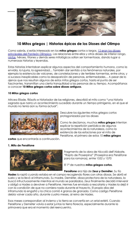 Historia épica De Los Dioses Del Olimpo Mitos Griegos By Brenda Vega Valle Issuu