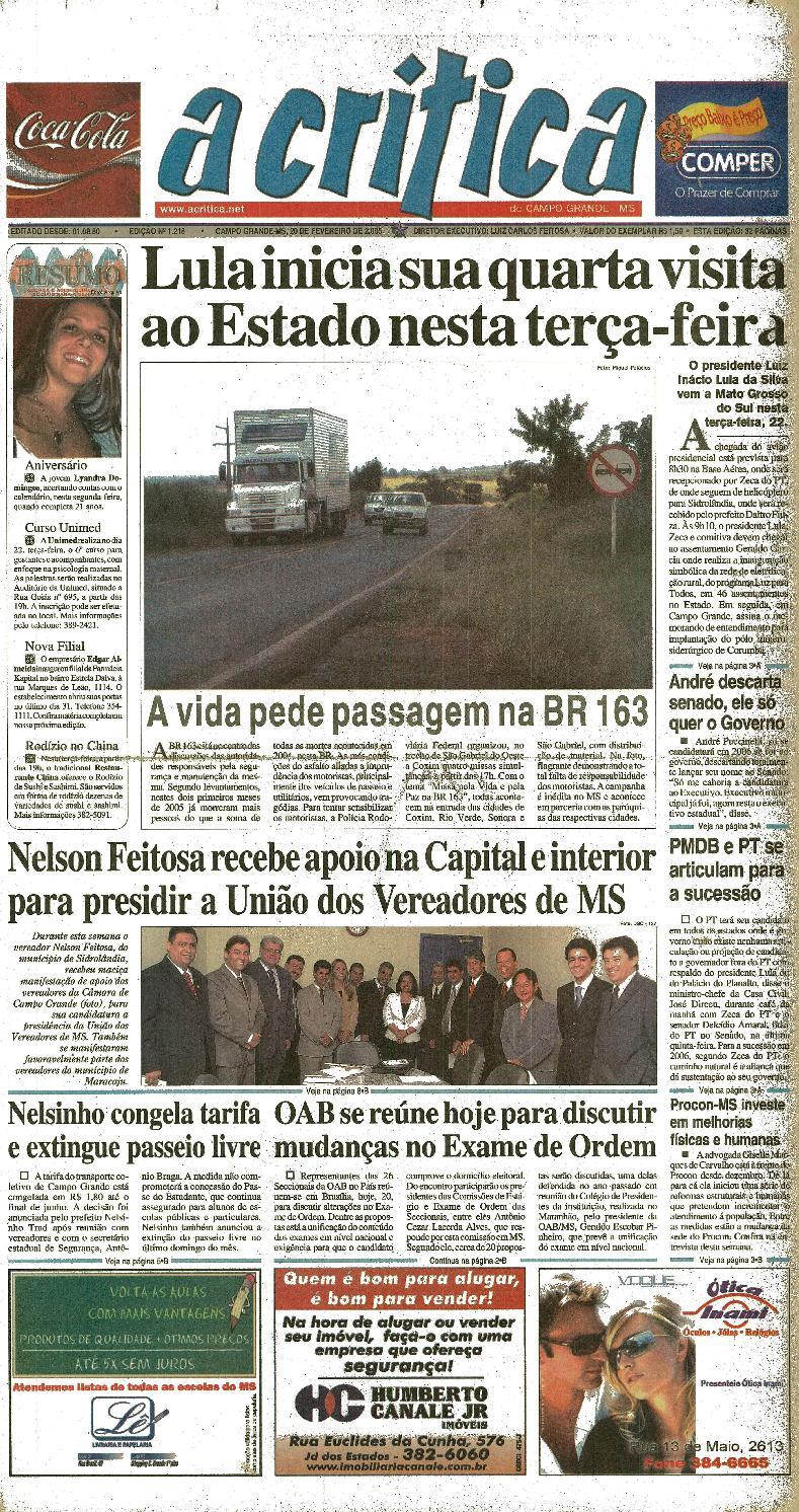 a405b2528 Jornal A Critica - Edição 1218- 20 02 2005 by JORNAL A CRITICA - issuu