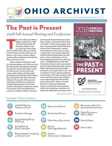 Ohio Archivist, Fall 2018 by Society of Ohio Archivists - issuu