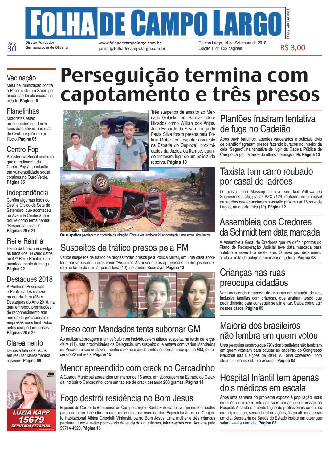 bb22286fb9 Folha de Campo Largo by Folha de Campo Largo - issuu