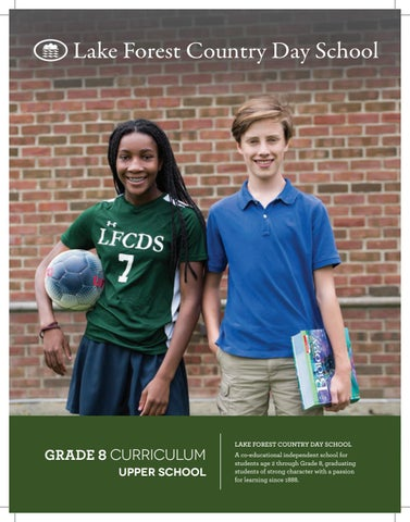 2018-19 Grade 8 Curriculum Guide by Lake Forest Country Day