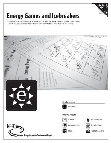 Energy Games And Icebreakers By Need Project Issuu