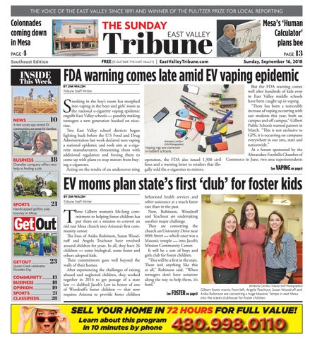East Valley Tribune - Southeast September 16, 2018 by Times Media