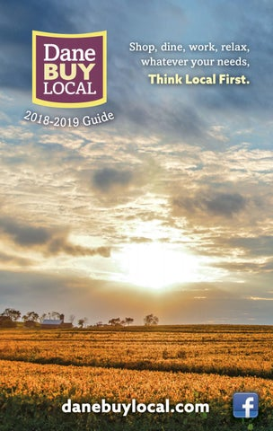 103 In Shade Along Lake Wingra >> Dane Buy Local 2018 2019 Guide By Towns Associates Issuu