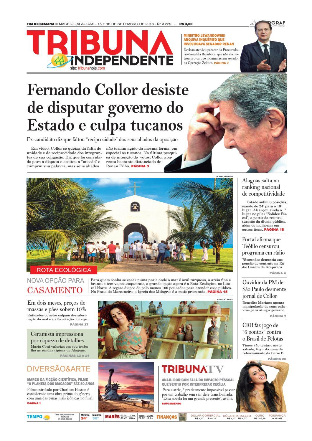 0453d881f Edição número 3229 - 15 e 16 de setembro de 2018 by Tribuna Hoje - issuu