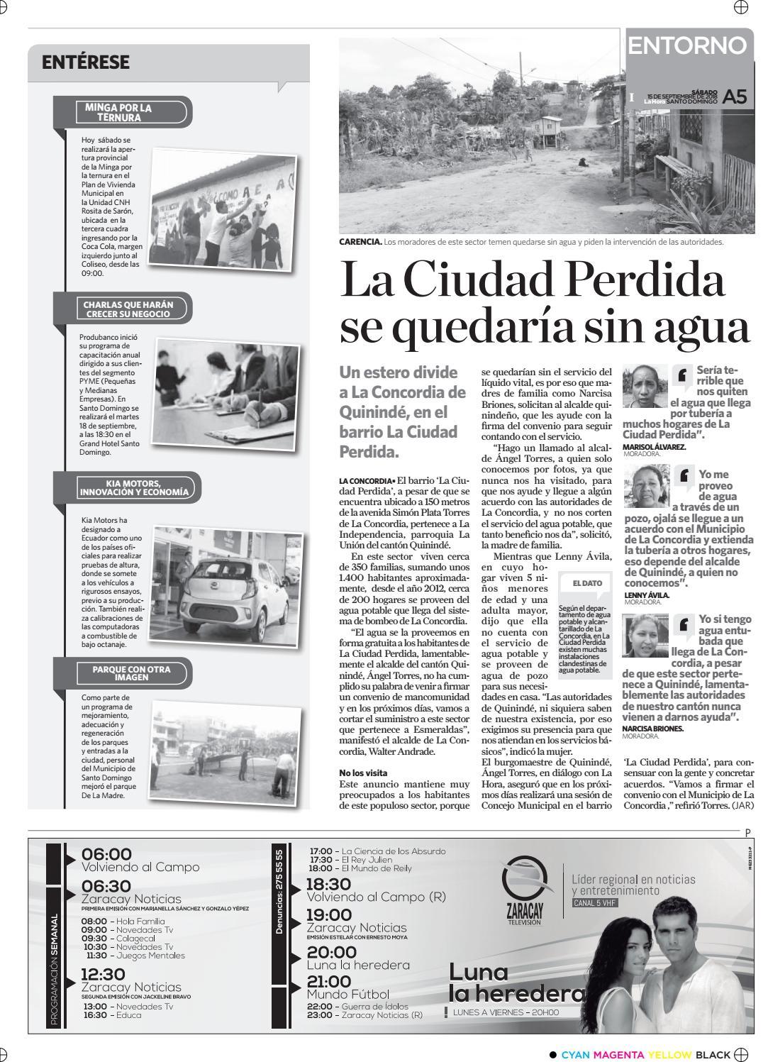 Santo Domingo 15 De Septiembre De 2018 By Diario La Hora Ecuador Issuu