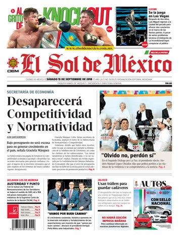 551e0173e El Sol de México a 15 de septiembre del 2018 by El Sol de México - issuu