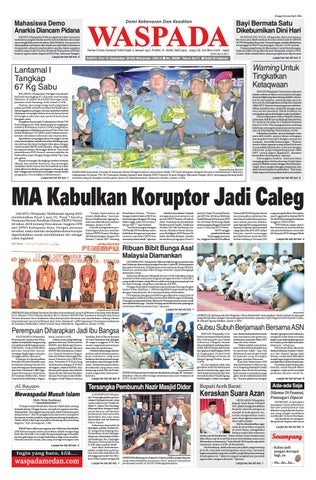 waspada, sabtu 15 september 2018 by harian waspada issuuDajal Mati Tercekik Biji Durian #20