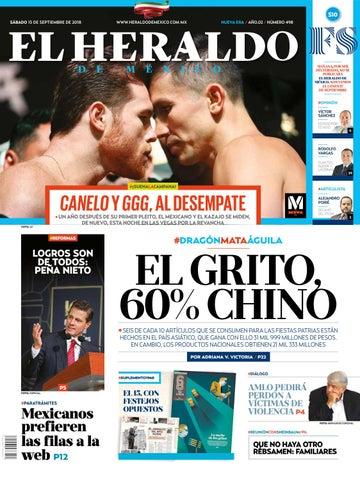 15 de septiembre de 2018 by El Heraldo de México - issuu 4a626c2b04f