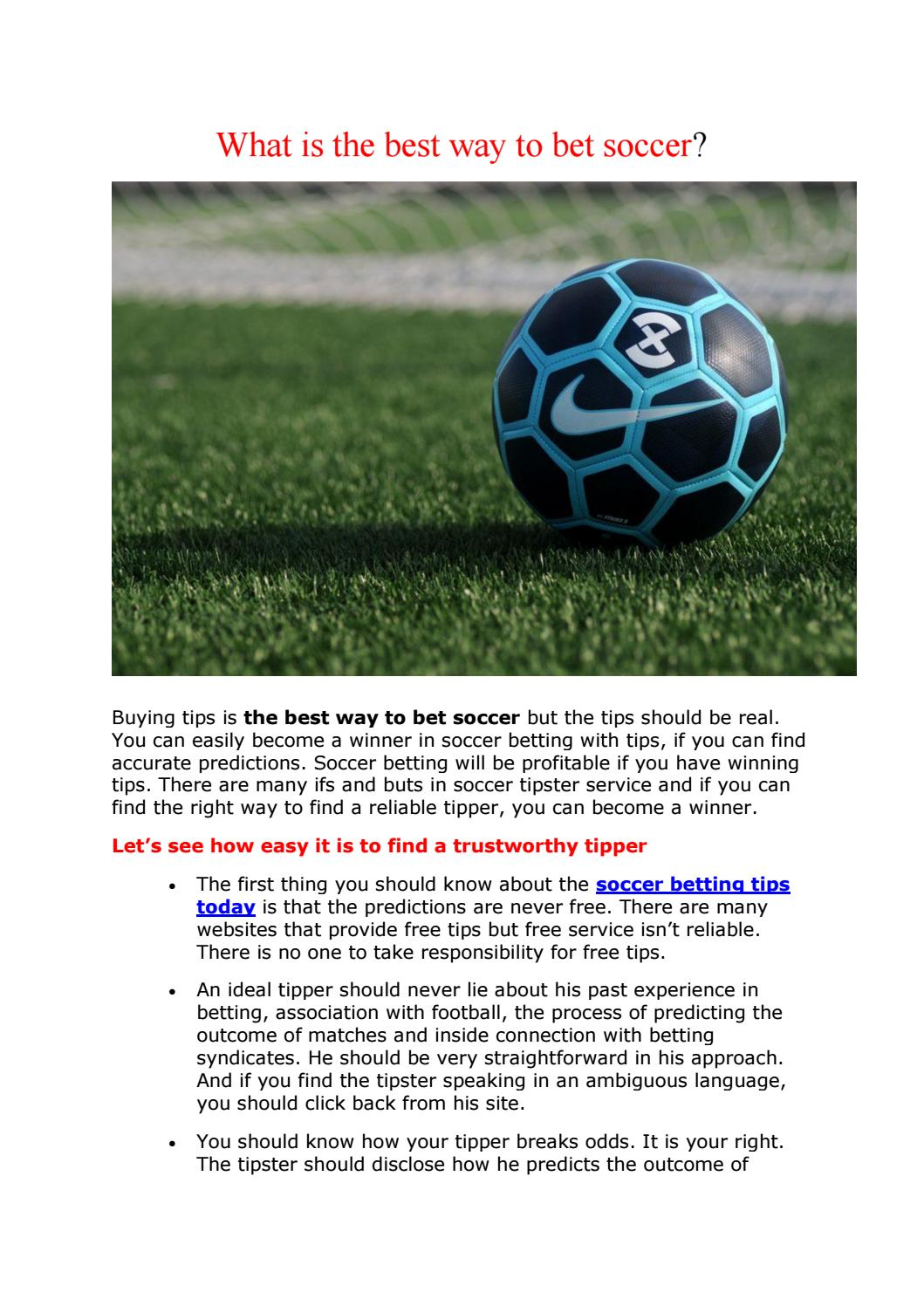 Inside soccer betting tips back and lay betting football in vegas