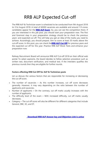 rrb alp answer key 9 aug 2018 download
