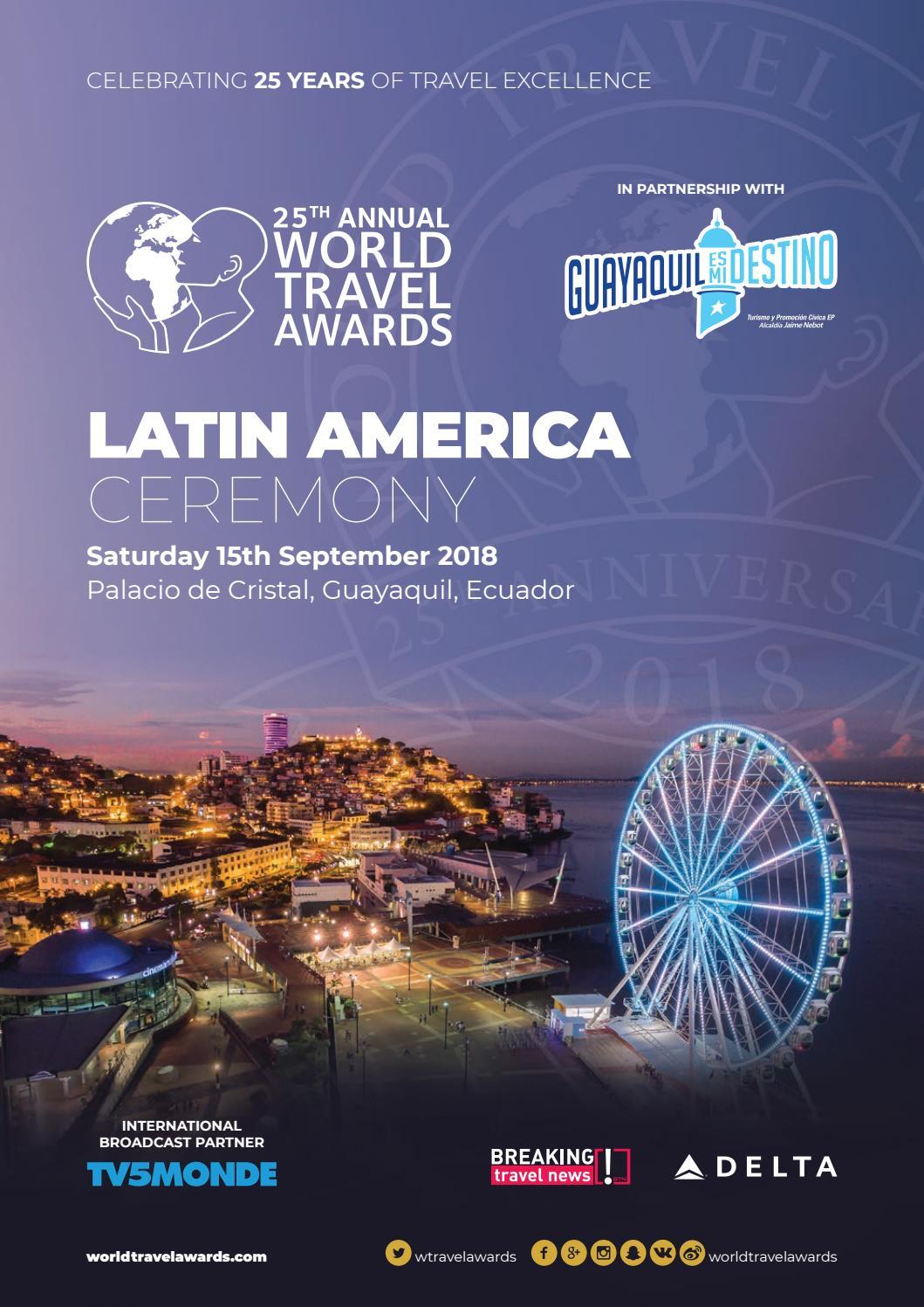 World Travel Awards Latin America Ceremony 2018 By World Travel