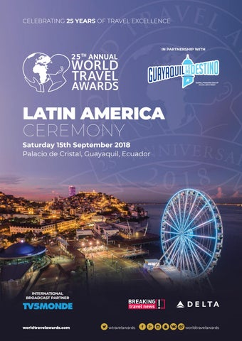 World Travel Awards Latin America Ceremony 2018 By World
