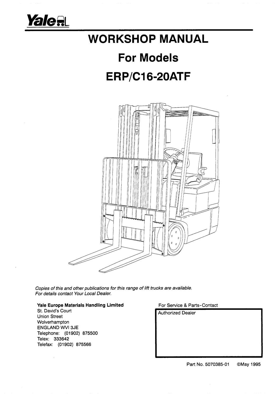 YALE (A807) ERP16-20ATF FORKLIFT Service Repair Manual by 1639110 - issuu