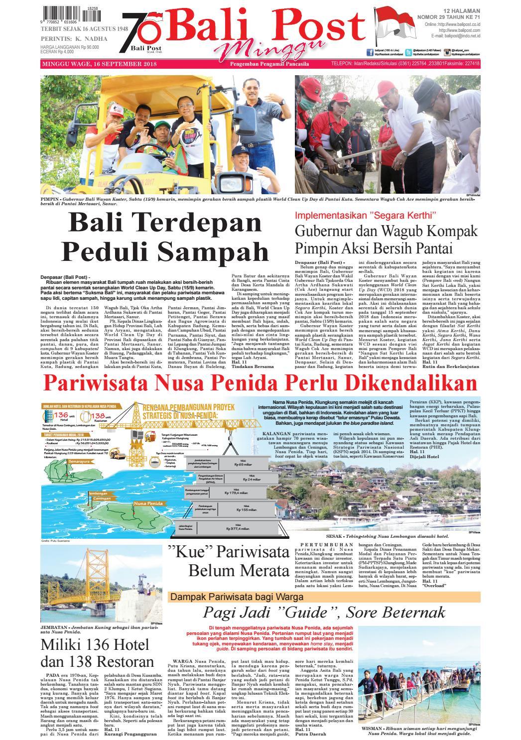 Edisi Minggu 16 September 2018 Balipost Com By E Paper Kmb Issuu