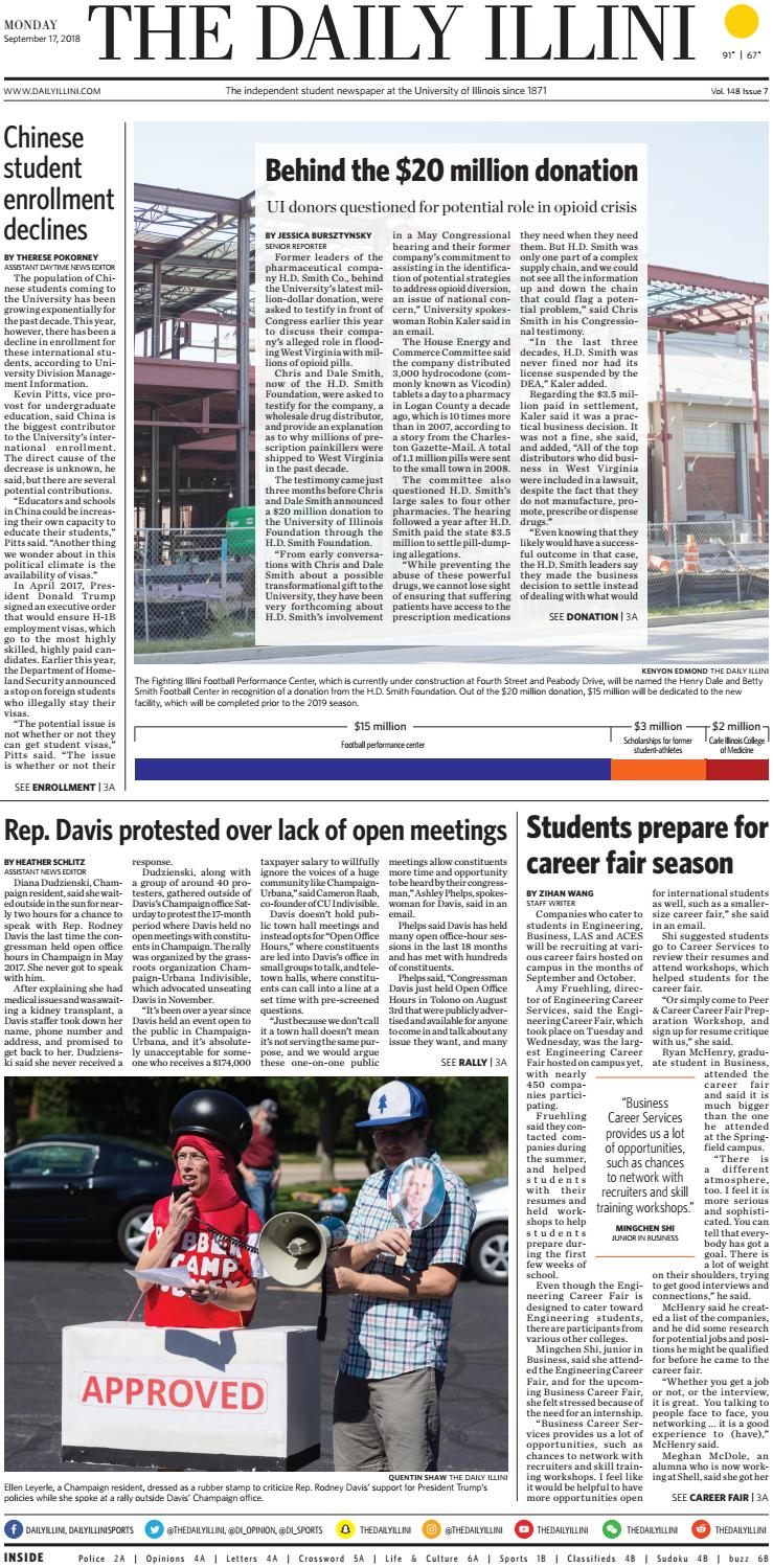 The Daily Illini: Volume 148 Issue 7