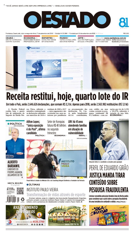 17 09 2018 – Edição 23369 by Jornal O Estado (Ceará) - issuu 9f259b7f6e